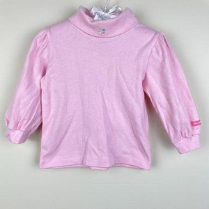 Vintage OshKosh Light Pink Turtleneck Shirt 18 M